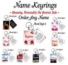 ANY NAME PERSONALISED KEYRINGS - English Arabic Personalised Keyring Gifts
