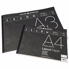 Daler Rowney - Configuration Support de papier - 45gsm - 80 pages - A3/A4 -