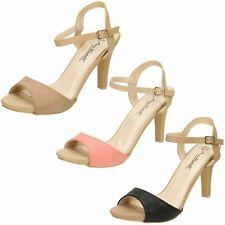 Ladies Anne Michelle Peep Toe High Heel 'Sandals'