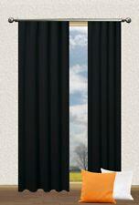 Verdunklungs Schal Blackout mit U-Band uni Fb. schwarz