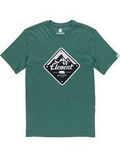 Ruta de elementos Manga corta Camiseta en verde oscuro