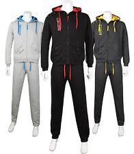 Men's Fine Casual Luxury Fleece Full TrackSuit Hoodie Suit Jogging Top Bottom