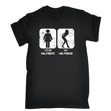 La tua ragazza LA MIA RAGAZZA T-shirt OFFENSIVA Partner divertente regalo festa del papà