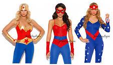 Sexy FEMALE SUPER HERO COSTUME Wonder Woman Avengers Captain America Spider Girl