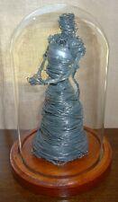 Unique Modern Art Handmade Metal Wire Sculpture Figure Of A Lady Woman
