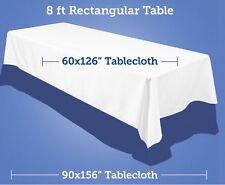 Tablecloth Satin Rectangular Seamless 60x120 Inch By Broward Linens