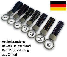 ★ Schlüsselanhänger Carbon Optik Metallring Keychain Auto KFZ Motorrad Leder  ★