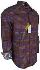 NEW Robert Graham $248 PALAZZO SPADA Woven Houndstooth Classic Fit Sports Shirt
