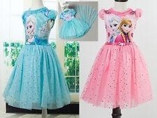 Frozen - Vestito tutù Compleanno Bambina 2-10 Y Anni Girl Birthday Dress - 00054