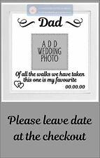Adesivo Vinile Per Sposa Matrimonio Cornice Adesivo con il Padre Della Sposa aggiungi foto