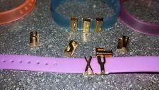 Silicone Bracelet Ihr (Votre) nom 10mm x 20cm pour Slider COULISSANT BRELOQUE