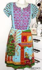Rosalita Mc Gee abito dress bustillino vestido S M COLORATA print Blu Verde Rosa