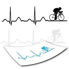 EKG Radfahrer Autoaufkleber & Wandaufkleber *TOP style4Bike*
