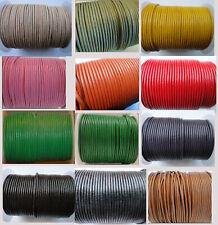 Premium Ajustable De Cuero Redonda Tanga Collar Cuerdas 1.5,2 mm/18-Pulseras