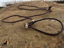 Biothane Flüsterleine Jagdleine Moxon Coated Rope mit Kausche und Hornstop, 6mm