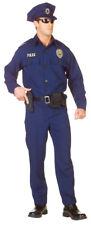 Officer Police Adult Mens Costume Career Blue Uniform Cop Occupation Halloween