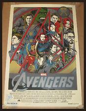 TYLER STOUT THE AVENGERS * SIGNED BY STAN LEE * LOKI Mondo Poster MARVEL COMICS