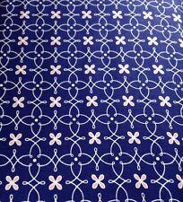 Michael Miller Helen's Garden fabric Floral Trellis Blue DC6195 100% cotton