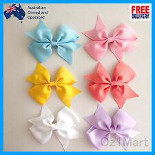 """20 Colors NEW 3.5"""" Hair Clip Alligator Baby Toddler Girl Kids Grosgrain Bow"""