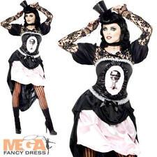 Burlesque Death Halloween Fancy Dress Ladies Salloon Burlesque 20s Adult Costume