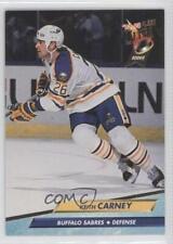 1992-93 Fleer Ultra #13 Keith Carney Buffalo Sabres RC Rookie Hockey Card