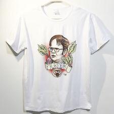 The Office US Cartoon Dwight Schrute T-shirt Funny Comics Design White T-Shirt