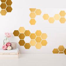 Aufkleber Waben DIY Wandtattoo Deko Hexagon Sechseck Sticker Gold Schwarz Weiß