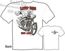 Rat Fink T Shirt Live To Ride, Ride To Live Big Daddy Chopper Sz M L XL 2XL 3XL