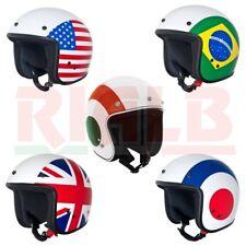 Casco Jet Helmet Open Face Vintage Vespa NAZIONI per Moto Scooter Custom in ABS