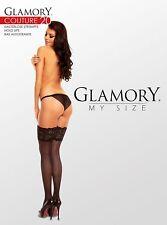 Glamory halterlose Strümpfe Couture 20 - Gr. 44/46 bis 60/62 - schwarz