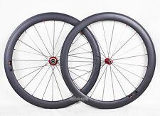 Conjunto de ruedas tubular de carbono Sapim 1415g 50 mm Bicicleta de carretera 700 C 3k Matt borde Novatec