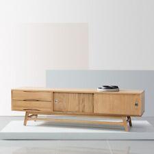Svend Danish Entertainment / TV Unit - Oak Wood - Reversible Doors - 180x45x50cm