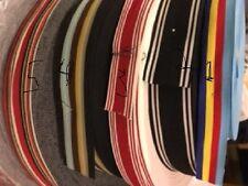 "5 yards W 7/8,1"",1.5,2"" Stripes red White,Black,Blue,Brown  Grosgrain Ribbon"