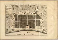 Stampa POSTER Antico città americane città mappa degli stati NEW ORLEANS