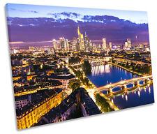 Frankfurt Germany Skyline City CANVAS WALL ART Picture Print Single