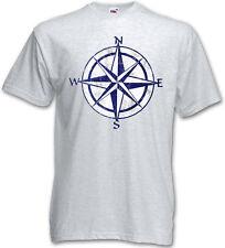 NAUTICAL COMPASS VINTAGE T-SHIRT - Tattoo Star Rockabilly Sailor Star Shirt 3XL