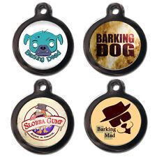 Lindo Divertido Mascota Perro Gato IDENTIFICACIÓN Collar Etiquetas grabado etiquetas del animal doméstico libre