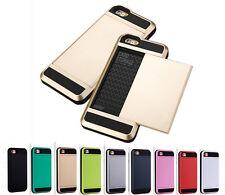 Tough Heavy Duty Shockproof Hybrid Slide Card Case for Iphone 5/6/6Splus/7/7plus