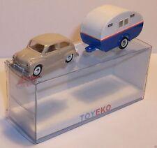 MICRO TOY EKO TOYEKO HO 1/86 1/87 SEAT 600 + CARAVANE CARAVAN REF 2144 in BOX