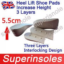 Unisize Ajustable Altura Aumentar Plantillas Almohadillas Insertar Zapato de elevación del talón - 3 capas