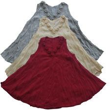 Peasant Hand Crochet Neck Sleeveless Top, Mexican/Oaxacan/Summer Blouse T0376X