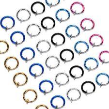 Falso Piercing de Nariz Bcr Spring Pendiente Helix Septum Clicker Oreja Ring