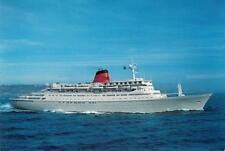 Cunard NAC Norwegian American Cruise Lines Sagafjord Ship Vintage 1980s Postcard