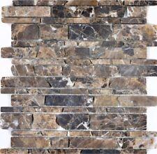 Naturstein Mosaik braun Emparador Fliesenspiegel Küche BAD 40-13-285_f |10Matten