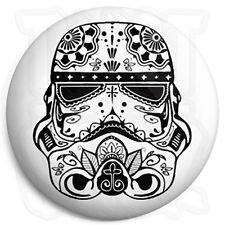 Star Wars - Stormtrooper Sugar Skull - 25mm Button Badge, Fridge Magnet Option