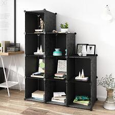 Classic Black 9 Cubes Storage Kid Cabinet Wardrobe Toy Book Shelve AU Stock