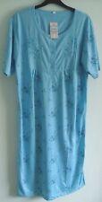 Ladies 'LUCKY BRAND' PolyCotton Short Sleeve Blue Floral Nighty sizes M L XL XXL