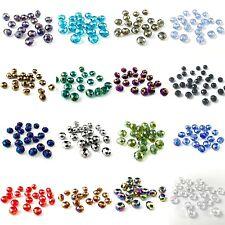 60 Qualité VERRE CRISTAL 8x6mm à facettes Blotter perles toutes couleurs
