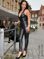 Ledercatsuit Cuir catsuit noir Overall Dos-Nu taille 32 - 58 XS-XXXL