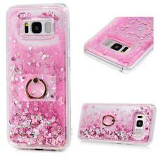 Ring Holder Glitter Quicksand Shockproof Protective Back Case For Samsung S8 S8+